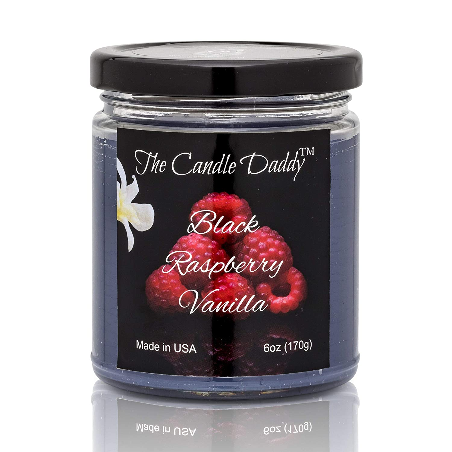 Black Raspberry Vanilla Scented Candle - 6 Ounce Jar Candle- Hand Poured in Indiana