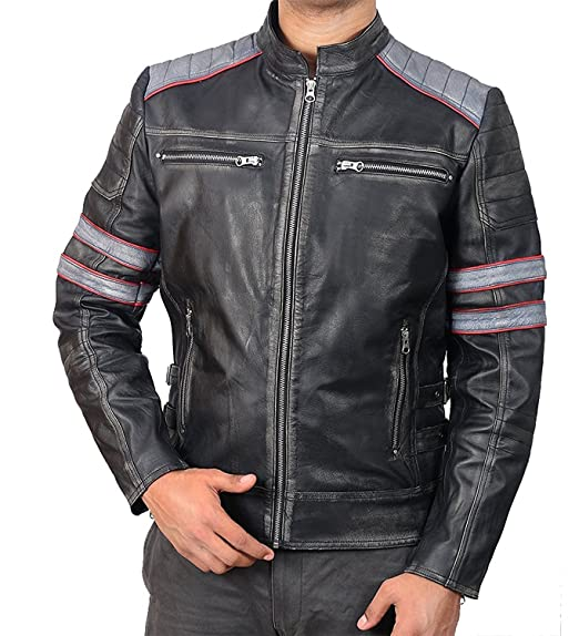Stylish-Leather-Jackets Chaqueta - para Hombre: Amazon.es: Ropa y accesorios