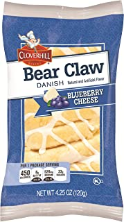 product image for Cloverhill Bear Claw Blueberry Cheese Danish, 4.25 Ounce -- 36 per case.
