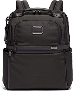 TUMI - Alpha 3 Slim Solutions Laptop Brief Pack - 15 Inch Computer Backpack for Men and Women - Black