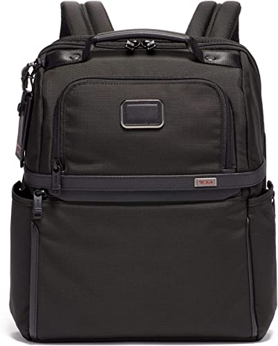 TUMI – Alpha 3 Slim Solutions Laptop Brief Pack – 15 Inch Computer Backpack for Men and Women – Black