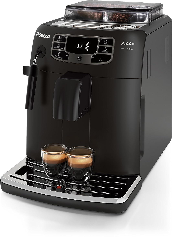 Saeco HD8758/57 Independiente Totalmente automática Máquina espresso Negro - Cafetera (Independiente, Máquina espresso, Granos de café, De café molido, ...