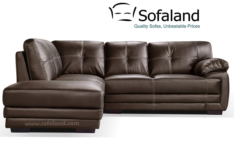 Hayley Piel Mano Izquierda esquina sofá - marrón: Amazon.es ...