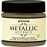 Rust-Oleum 255290 Metallic Accents Paint, 2 oz Trial Size, Soft Gold