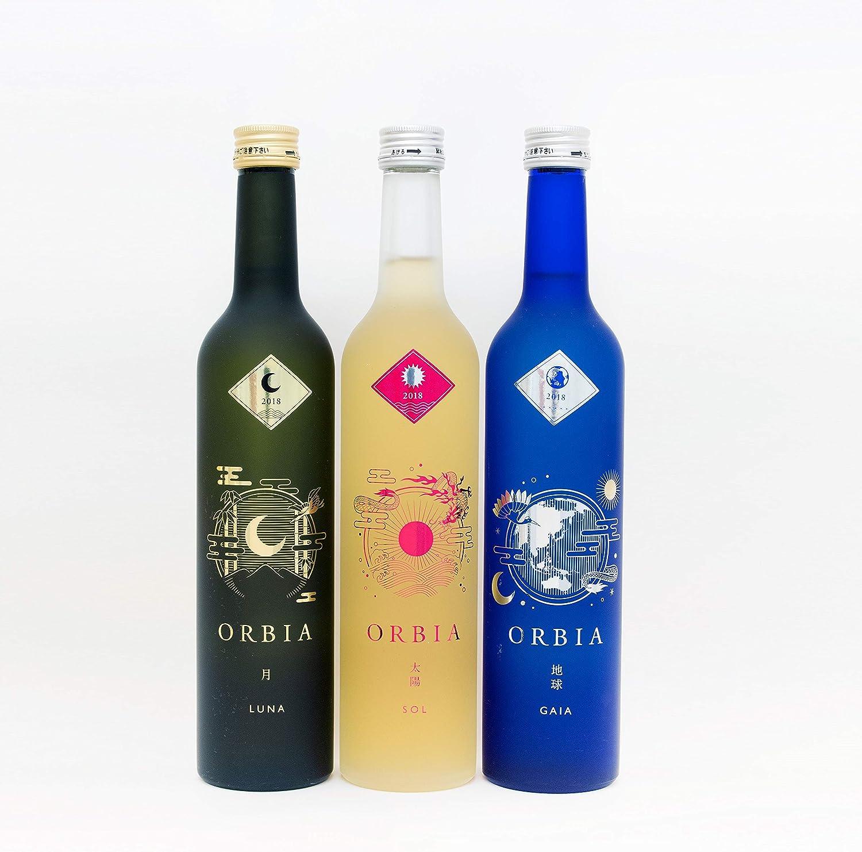ORBIA(オルビア) ワイン樽熟成日本酒ORBIA 3本セット<SOL&LUNA&GAIA>