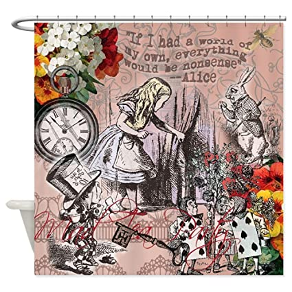 Amazon CafePress Alice In Wonderland Vintage Adventures Shower