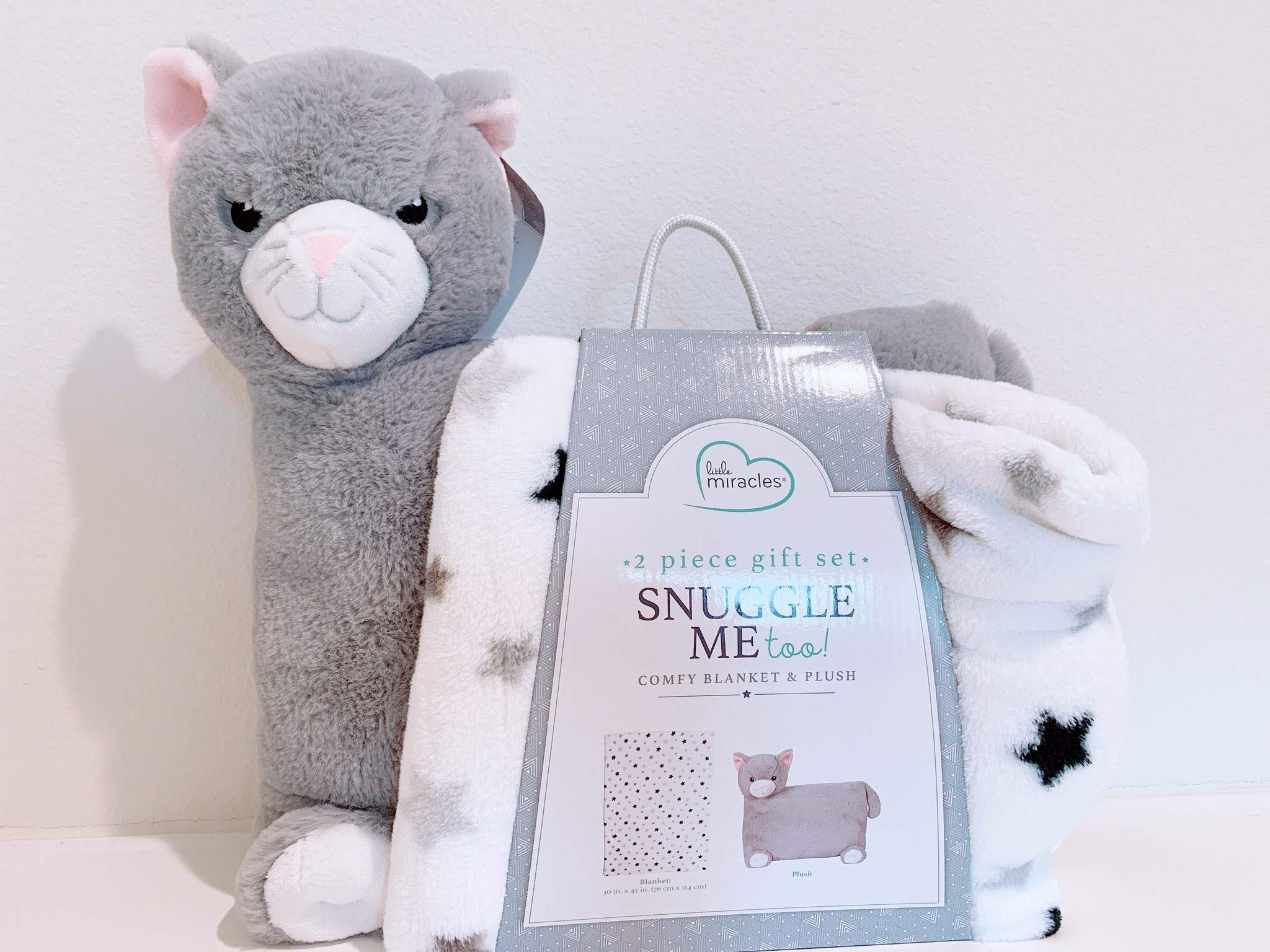Little Miracles Snuggle Me Too! 2-Piece Comfy Blanket and Plush Gift Set - Cat by Little Miracles