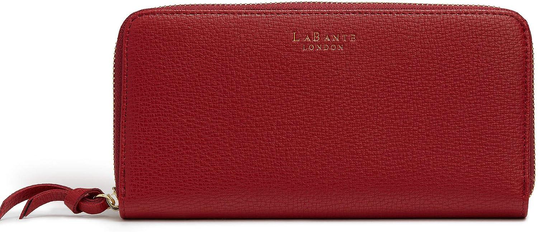 LaBante -Serene- Vegan Leather Wallets For Women - Bordeaux Wallet Red Wallet Zipper Wallets for women minimalist wallet woman large wallets for women