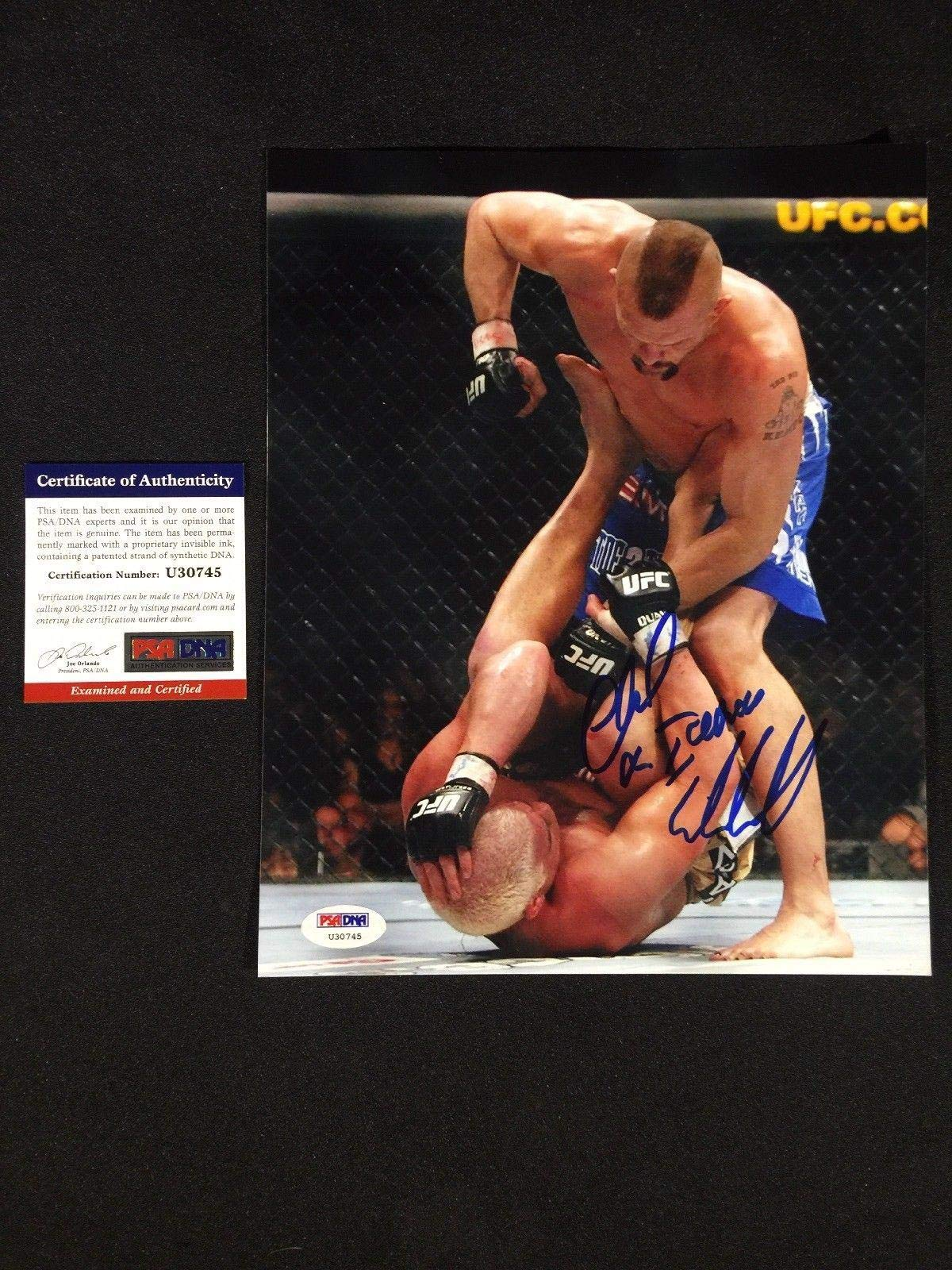 Iceman Chuck Liddell Signed 8x10 8 x 10 Photo UFC #U30745 PSA/DNA Certified Autographed UFC Photos