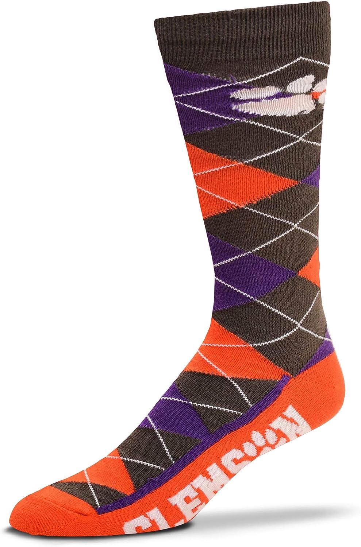 For Bare Feet Mens Zoom NCAA Argyle Dress Socks