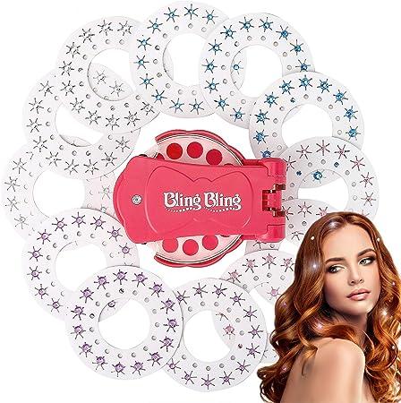 Glam Styling Tool welltop Blinger Diamond Styler Kit Blinger Diamond Collection Toy pour Enfants Filles Ladys Women Make Up avec 180 Pierres pr/écieuses
