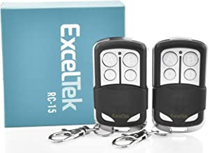 ExcelTek 893LM Compatible Garage Door Remote Control with Yellow Learn Button Liftmaster Chamberlain Craftsman 891LM 950ESTD 953ESTD MyQ (2 Pack)
