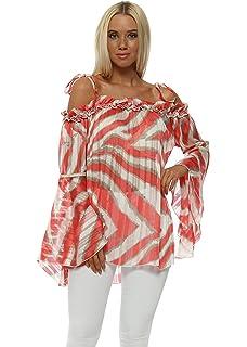 59f2681209081 Troiska Blurred Stripe Cross Over Maxi Dress One Size Peach Coral ...