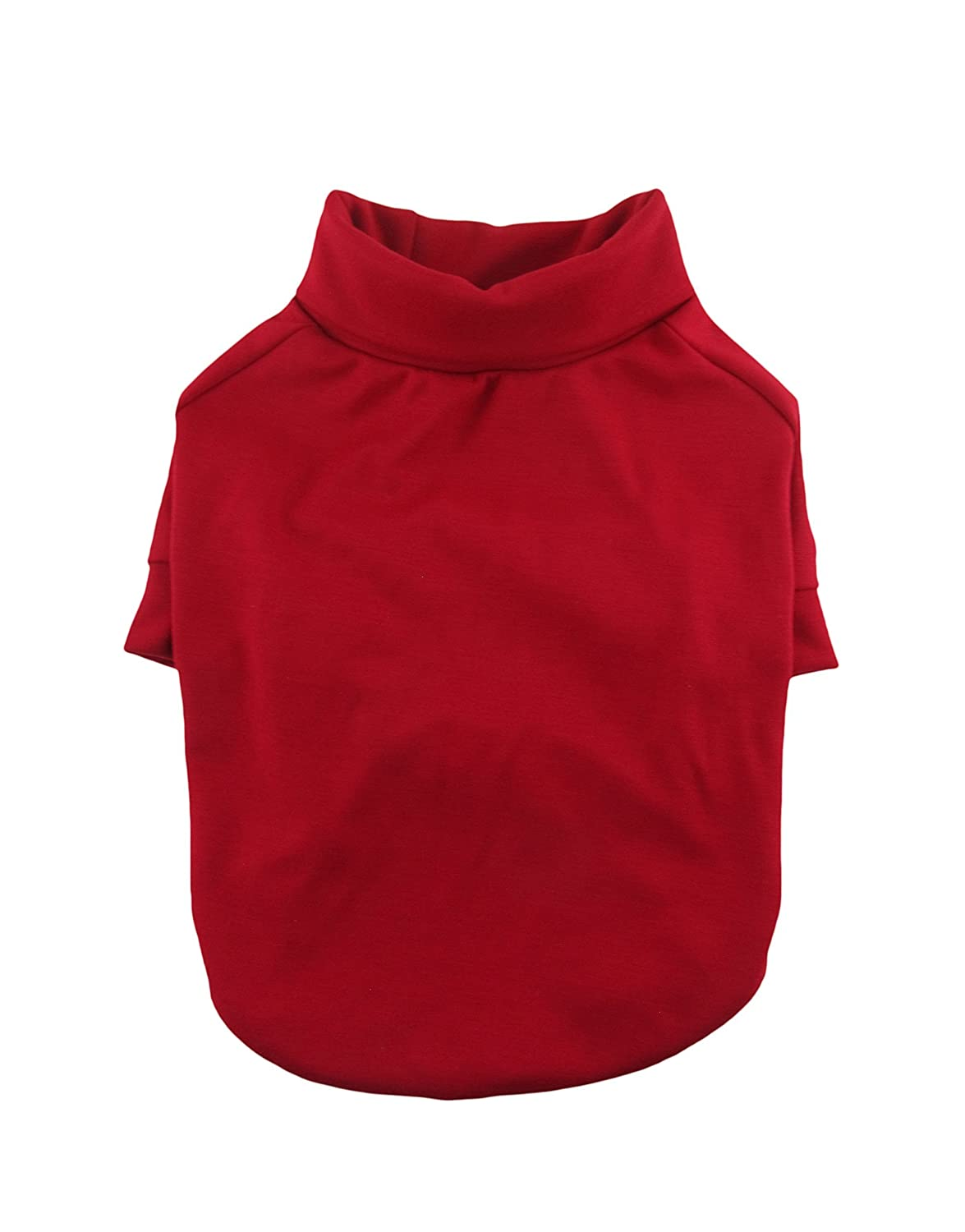 Red Turtleneck Raglan Tee, Dog Top, Dog Clothing, Dog Apparel, Dog Fashion, Pet Apparel