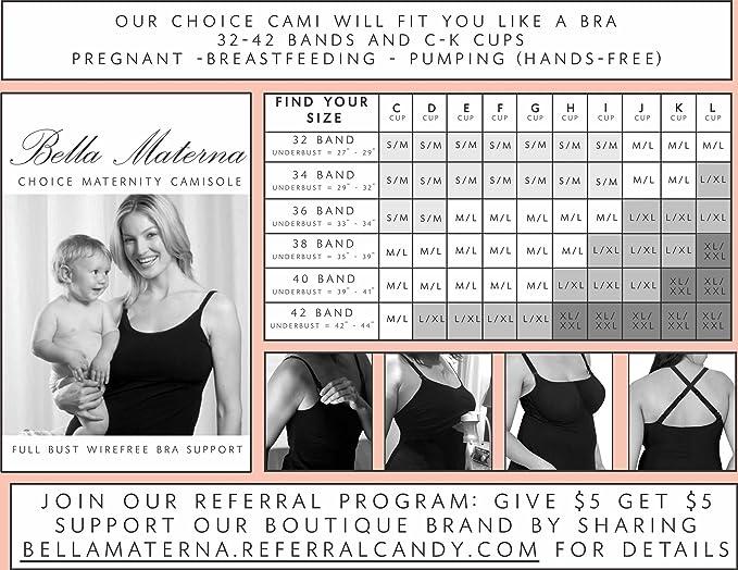 ad9b3cafafc96 Bella Materna Women s Maternity Choice Full Support Brami-Nursing   Pumping  Tank at Amazon Women s Clothing store