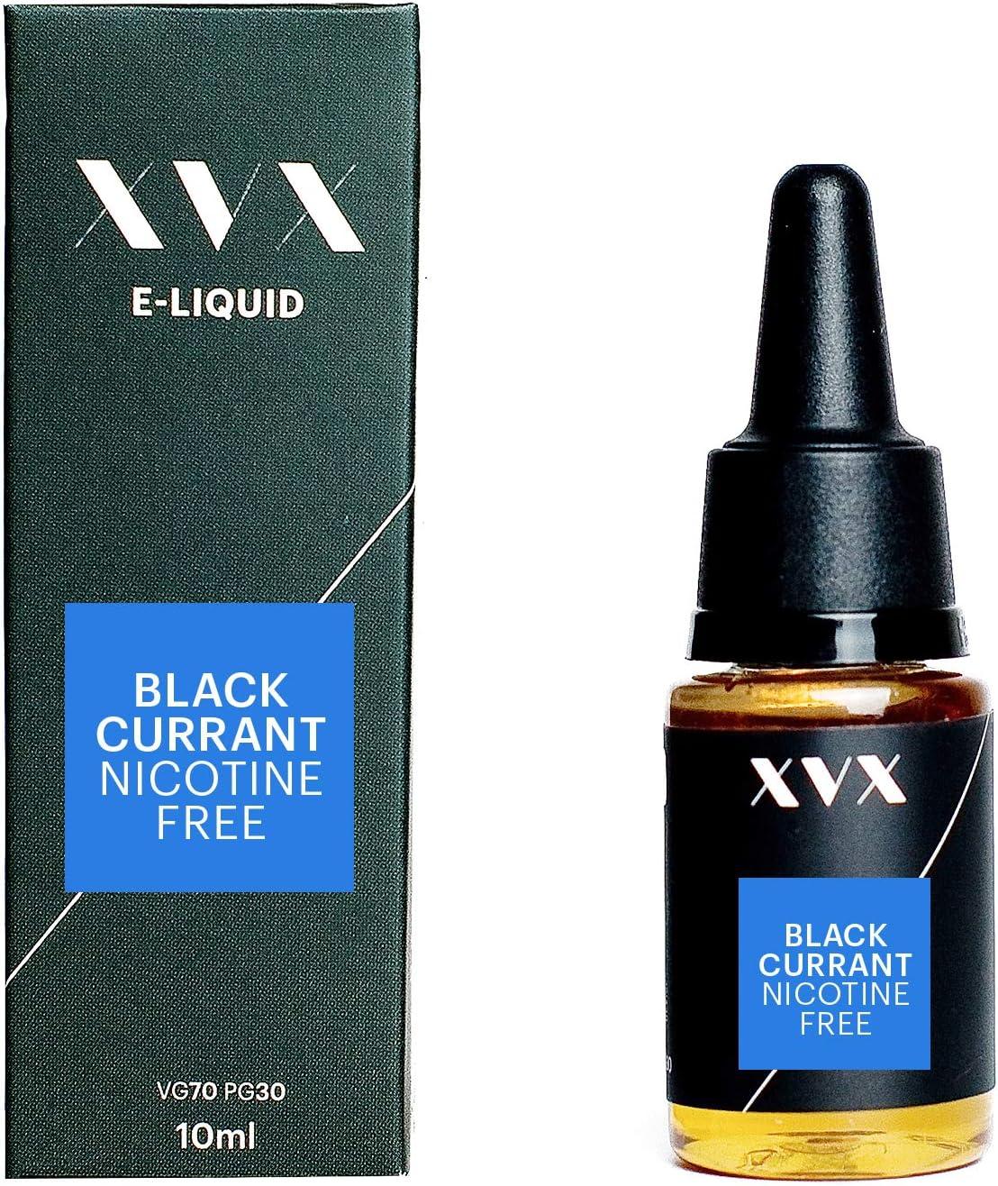 XVX E Liquid Blackcurrant Flavour Electronic Liquid For Vape Pen Cigarettes E Cigarette Shisha Vapouriser Liquid 10ml Nicotine Free Bottle Needle Tip Ecig E Cig