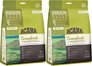 ACANA 2 Pack of Grasslands Dog Food, 12 Ounces Each, Grain-Free, Made in The USA