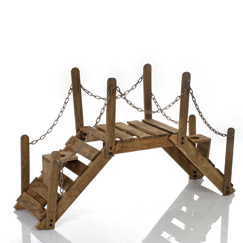 Cool Puente Soporte De Plantas Decorativo Jardinera De Madera Y Hierro  Forjado Para El Jardn La Terraza O Interiores Amazones Hogar With Como  Hacer ...