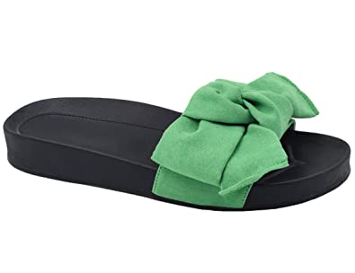 511cb5cbef02 MaxMuxun Girls Ladies Stylish Outdoor Flip Flops Sandals Shoes Green Bowtie  Size 4 UK 37