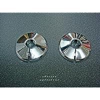 Talon x 2 Chrome 15mm Pipe Cover/ Collar/Rad