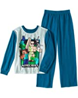 AME Minecraft Flannel 2 Piece Pajama Set Boys