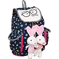 NISUN Women's College MUlticolour Canvas Casual Backpacks with Teddy (Print May Vary)