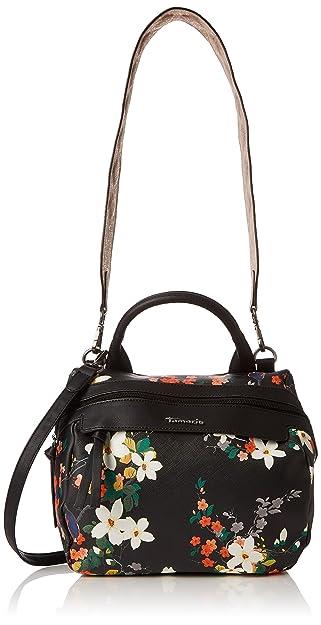 Tamaris Damen Ava Bowling Bag Tasche, ((black comb