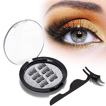 e795a2b944d Beauty HAO Upgraded Magnetic Eyelashes, Dual Magnetic Eyelashes, 0.2mm  Ultra Thin Magnet,