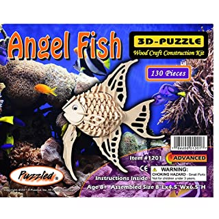 Angel Fish - 3D Jigsaw Woodcraft Kit Wooden Puzzle Puzzled Inc. 1201