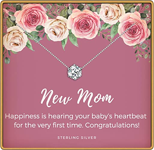 Amazon Com Kedrian New Mom Necklace 925 Sterling Silver New Mom Gifts Pregnant Mom Gifts Gifts For New Moms Mom To Be Gifts New Mom Gifts Ideas Pendant Gifts For Expecting Mothers New
