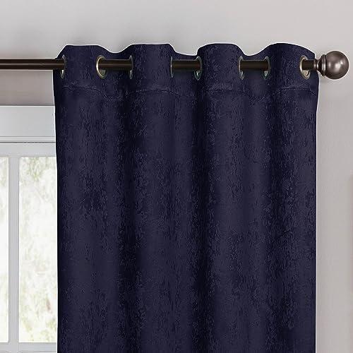 Bella Luna Faux Suede Room Darkening Extra Wide 108 x 96 in. Grommet Curtain Panel Pair