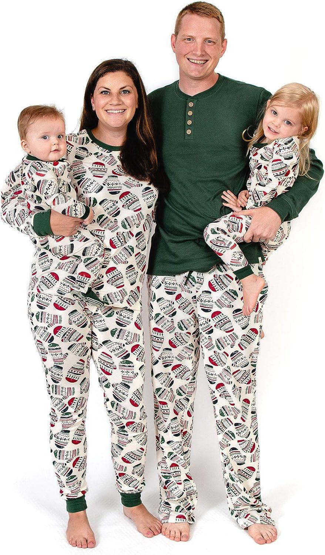 Burt's Bees Baby Family Jammies, Holiday Matching Pajamas, 100% Organic Cotton PJs, Merry Mittens, Womens Small