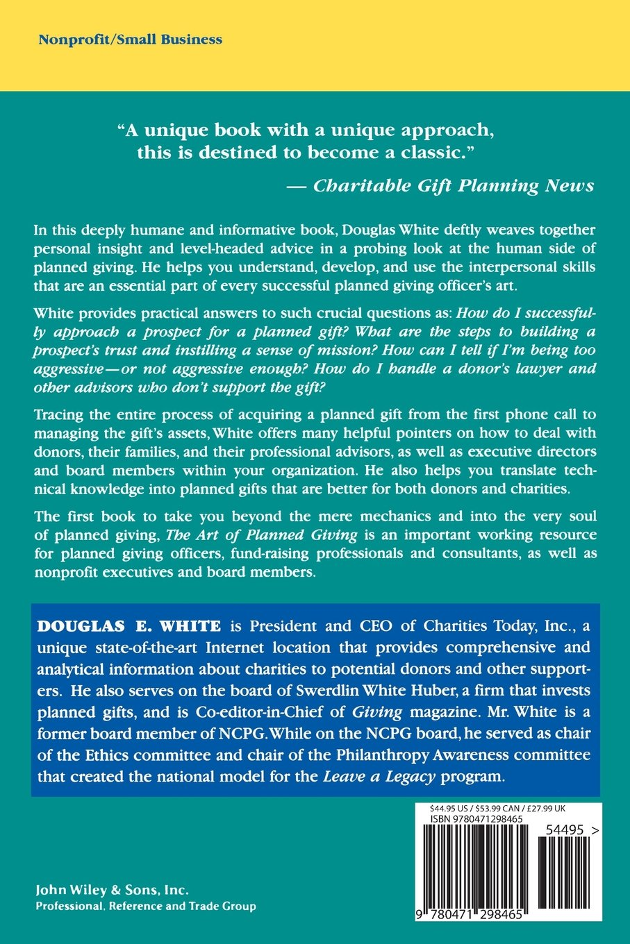 The art of planned giving understanding donors and the culture of the art of planned giving understanding donors and the culture of giving douglas e white 9780471298465 amazon books negle Gallery