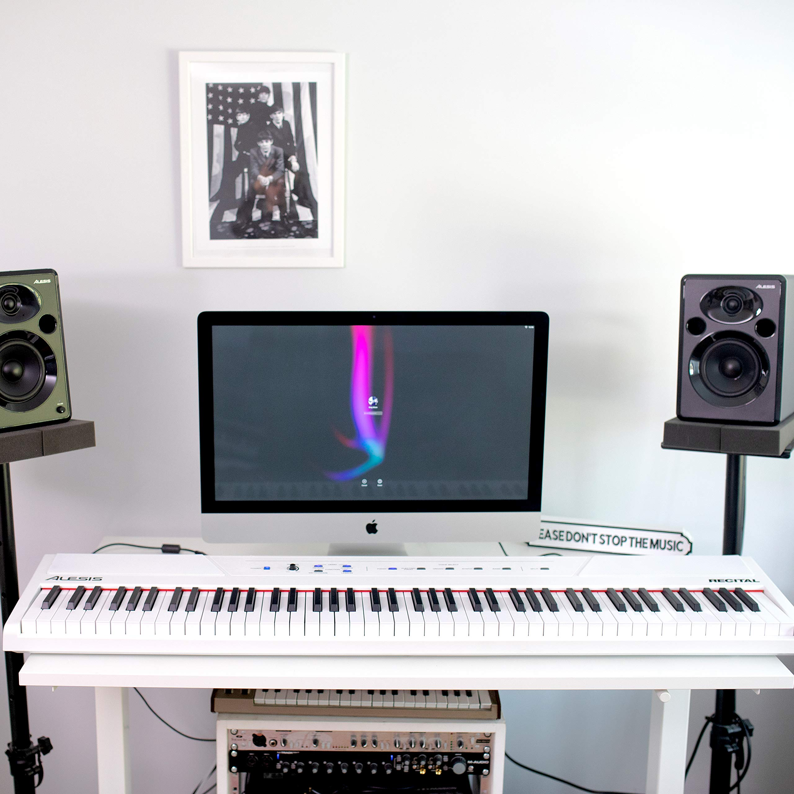 Alesis Recital White | 88-Key Digital Piano / Electronic Keyboard with Full-Size Semi-Weighted Keys, Power Supply, Built-In Speakers and 5 Premium Voices by Alesis (Image #15)