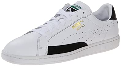 PUMA Men's Match 74 Lace-Up Fashion Sneaker, White/Black, ...