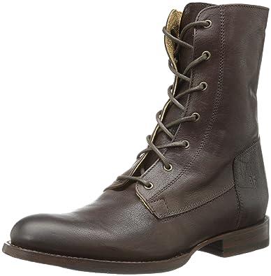 Amazon.com | FRYE Women's Jamie Artisan Lace Combat Boot, Dark ...