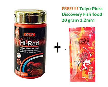 Buy Live with Alive Toiyo HI-RED flowerhorn Fish Food 100gram with