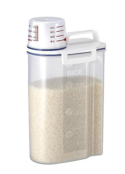 Rice Storage Bin with Pour Spout by Asvel 2kg  sc 1 st  Amazon.com & Amazon.com - Rice Storage Bin with Pour Spout by Asvel 2kg - Food ...