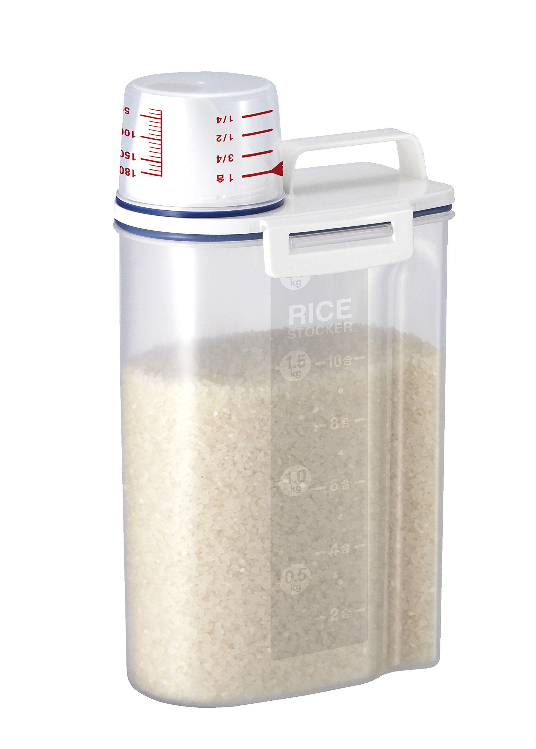 Rice Storage Bin with Pour Spout by Asvel 2kg