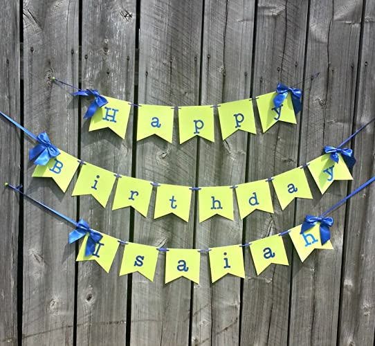 amazon com royal blue and lime green happy birthday banner with