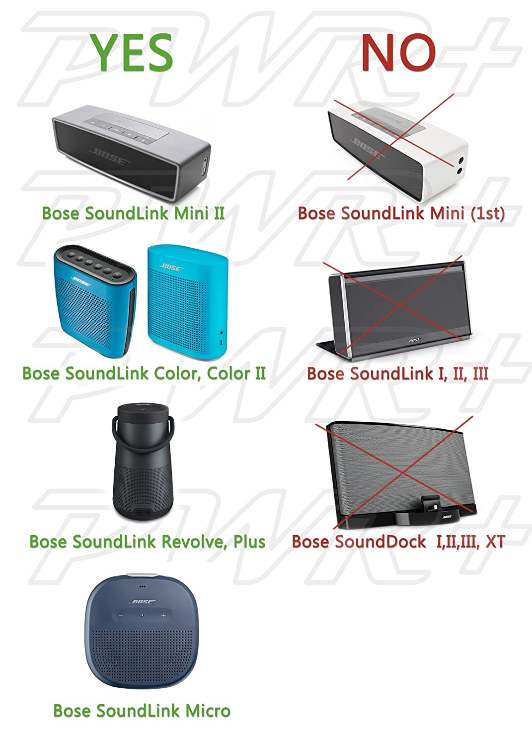 Pwr Charger For Bose Soundlink Color Mini 2 Ii Revolve Sounddock Wiring Diagram Micro Plus Ul Listed Long 65ft Adapter Power Cord 627840 725192 Portable Speaker