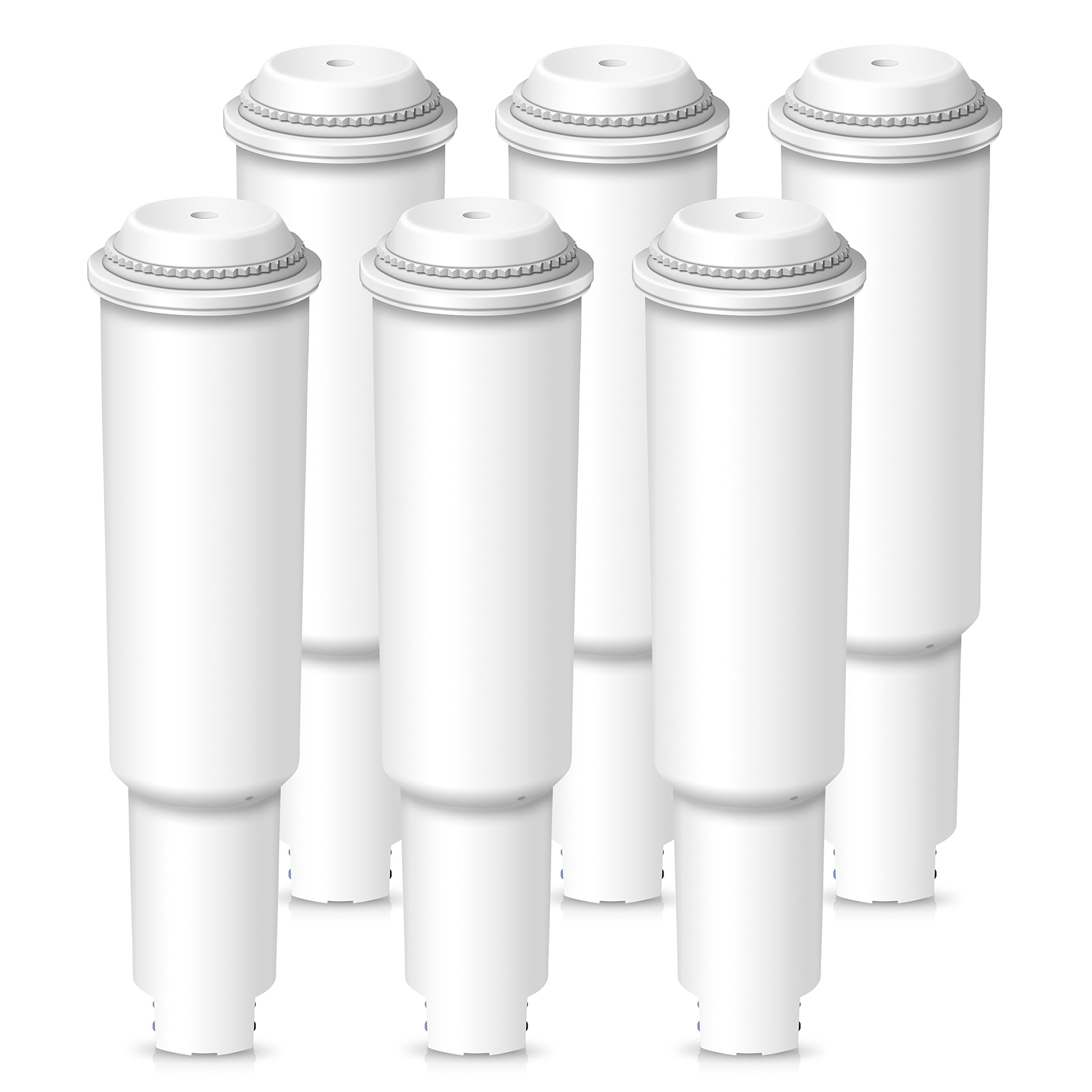 AQUACREST Coffee Water Filter, Compatible with JURA Claris Clearyl White (NOT Jura Claris Pro), Jura 7520, Part 64553, NOT for Flavia Coffee Machines (Pack of 6)