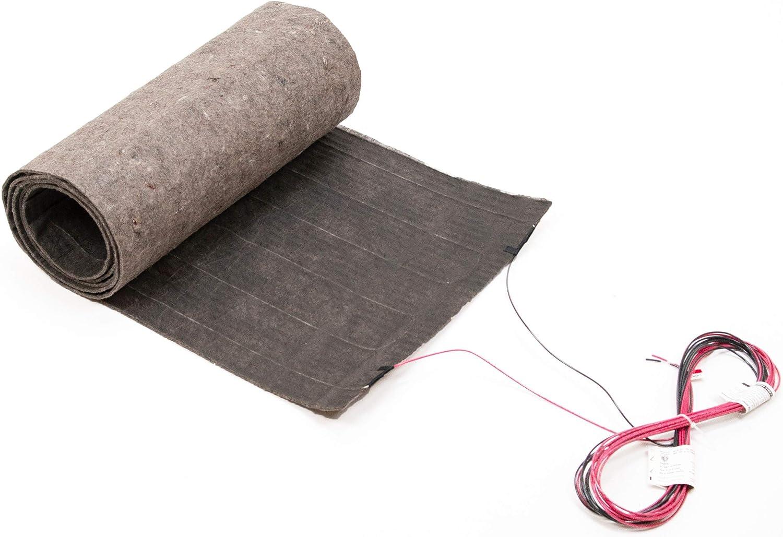12 Sqft Radiant Floor Heating Mat System for Laminate and Wood Floor Heat, 120V, 1.5 ft x 8 ft