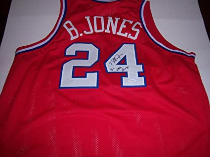 18fcb85cf Image Unavailable. Image not available for. Color  Signed Bobby (Philadelphia  76ers) Jones Jersey ...