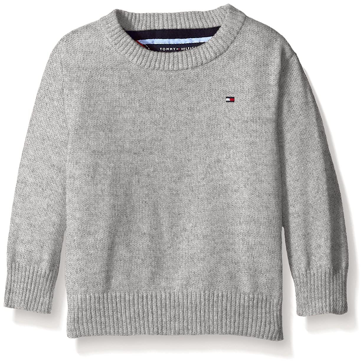 Tommy Hilfiger Boys Long Sleeve Alan Crew Neck Sweater