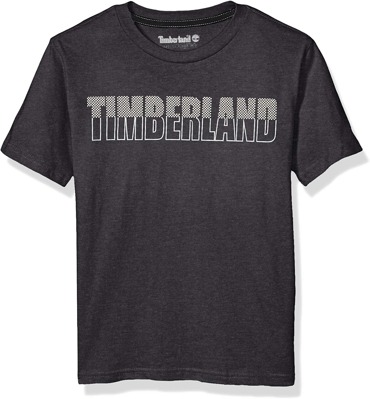 Timberland Boys Big Short Sleeve Graphic Print Jersey Tee