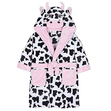 Minikidz Girls Plush Fleece Novelty Cow Hood Dressing Gown  Amazon.co.uk   Clothing 595912791