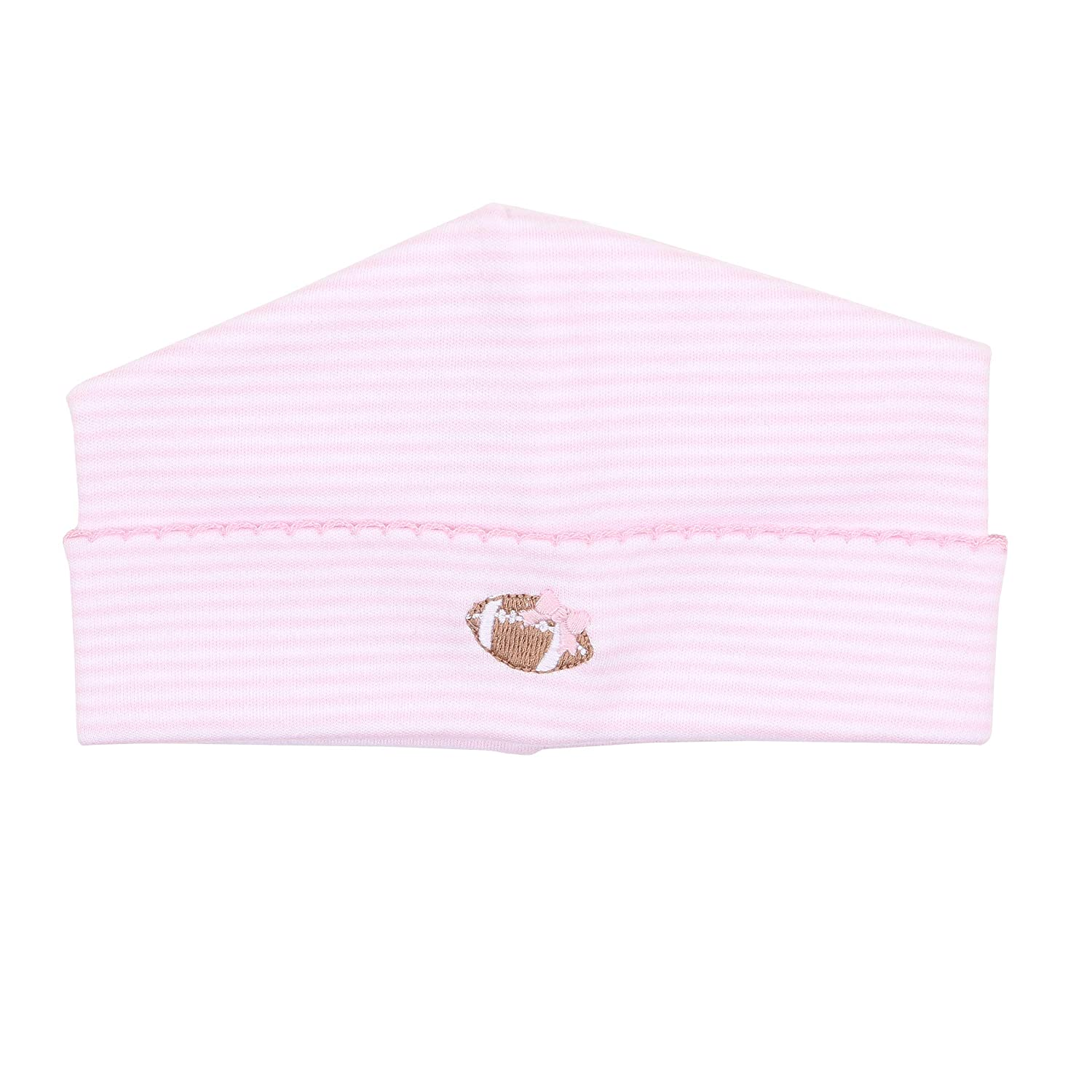 Magnolia Baby Baby Girl Love Football Embroidered Hat Pink