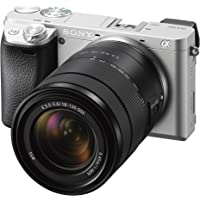 Sony Alpha A6300 Mirrorless Digital Camera with 18-135mm f/3.5-5.6 OSS Zoom Lens (Silver)