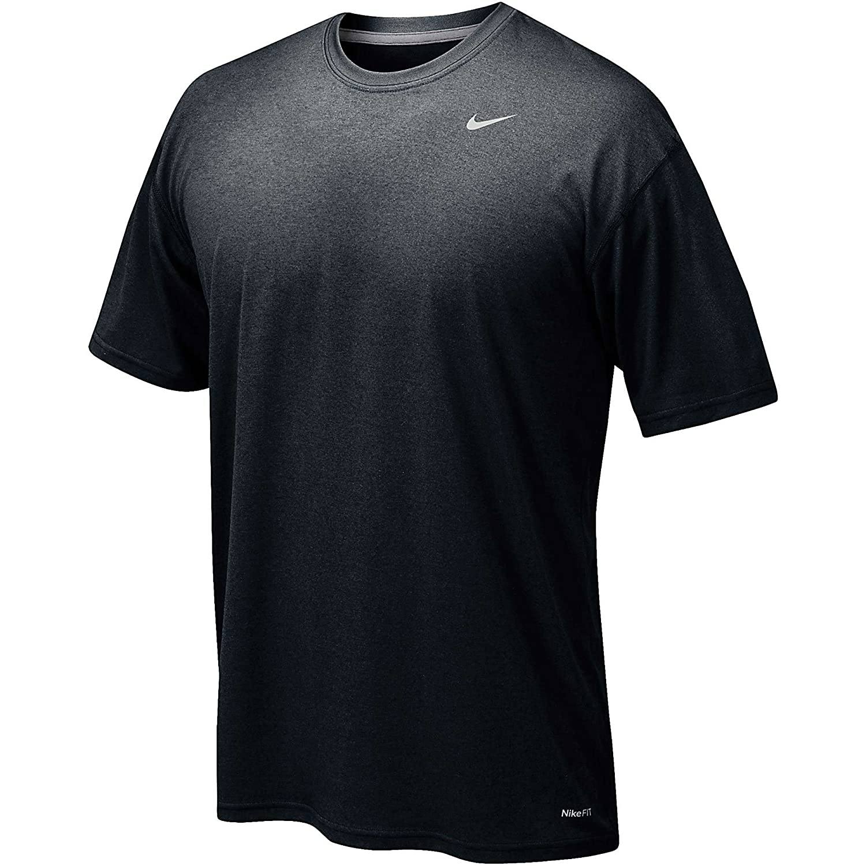 Nike 384407 Legend Dri Fit Short Sleeve Tee – Navy B0096E5AI8 YL|ブラック ブラック YL
